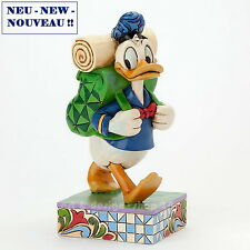 "DISNEY - Skulptur - ""DONALD HIKING"" - prachtvolle Jim Shore Figur  4038496 NEU !"
