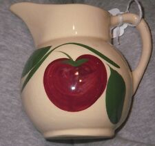 Vintage Watt Pottery Two Leaf Apple # 62 Pitcher Creamer