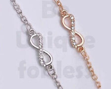 Diamante Simple Love Infinity Anklet Foot Chain Ankle Bracelet Infinity Charm