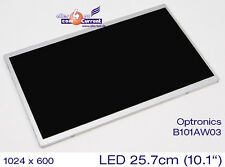 "25,7cm 10,1"" WSVGA TFT LED DISPLAY 1024x600 MATRIZ OPTRONICS B101AW03 BRILLO"