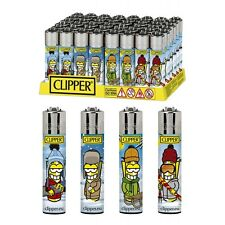 SET DI 4 ACCENDINI CLIPPER MAN WINTER Da Collezione Lighter Gift Box Regalo Kit
