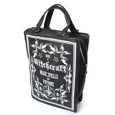 Poizen Industries Gothic Goth Occult Witchcraft Book Bag Vegan Leather Black BN