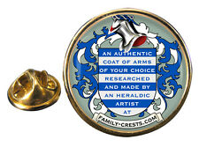 Family Crest (Coat of Arms) Lapel Pin (examples shown)