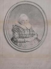 ARTE_INCISORE BAILLIE_RARA ANTICA INCISIONE_ARTISTA DOU_DECORATIVO RITRATTO_1775