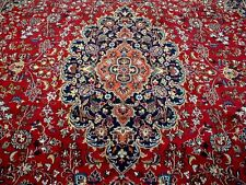 10X13 1960s EXQUISITE AUTHENTIC HAND KNOTTED SIGNED ANTQ WOOL MASHAD PERSIAN RUG