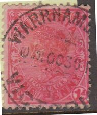 (KO78) 1902 AU VIC 1d red QVIC over inked
