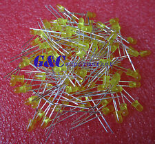 100PCS Diffused LED 3MM YELLOW COLOR YELLOW LIGHT Super Bright GOOD QUALITY