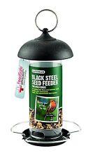 Gardman Black Steel Seed Wild Bird Hanging Garden Feeder A01172