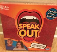 Hasbro Speak Out Mouth Piece Party Board Game New In Box Ships from US