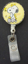 SNOOPY WOODSTOCK Peanuts Retractable Badge Reel/ ID Card Holder/Key Chain Ring