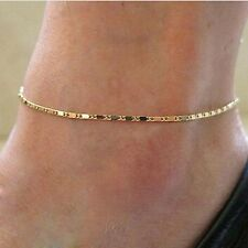 Women Gold Plated Chain Anklet Ankle Bracelet Barefoot Sandal Beach Foot Jewelry