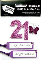 Rose 21ème Anniversaire DIY Carte de vœux Toppers personnaliser les cartes artisanales vous-même