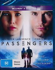 Passengers Blu-ray Bluray NEW digital ultraviolet Jennifer Lawrence Chris Pratt
