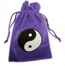 VELVET YING YANG TAROT CARD CRYSTAL POUCH NEW AGE HEALING BAG REIKI WICCA PAGAN