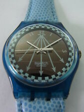 SRN100 Swatch - 1995 Solar Happy Blue Automatic Swiss Made Authentic