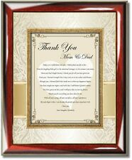 Bride Daughter Thank You Gift Parents Mom Dad Inlaws Wedding Day Love Poem