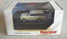 Herpa Private Collection HO 1/87 Range Rover Police Isle of Man NIP