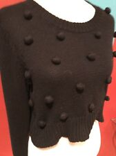 Revolve Clothing Mink Pink Black Knit Sweater XS S