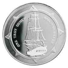 2017 New Zealand HMS Bounty 1 oz .999 Silver BU Round Bullion Coin - LIMITED!