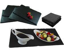 9 pièces ardoise naturelle napperons sous-verres table rectangle Runner salle à manger servir set