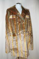 70s Vtg Gaudy Striped Double Breasted Cape Poncho Coat Extreme Hippie Disco Punk