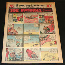 1949 Sunday Mirror Weekly Comic Section May 8th (FN+) Superman vs Robbers
