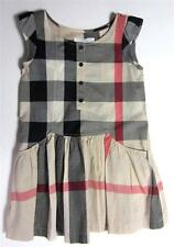 BURBERRY GIRLS' DAVITA DROP WAIST DRESS NEW CLASSIC CHECK 4 YEARS NWT $195