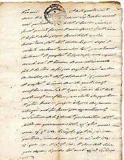 MONTAUBAN / 4 pages LETTRE DOCUMENT MANUSCRIT 1790 Flamme Expédition & Sol