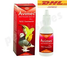 Avimec 10ml Mite/Flea/Tick Control %0,1 Ivermectin Spot On Drops for Cage Birds
