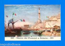 CENTENARIO UNITA D'ITALIA - Figurina-Sticker n. 202-203 - FRANCESI A GENOVA -Rec