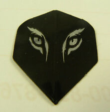 Dart Flights 5 Stand. Sets  Silver/Black Tiger's Eyes