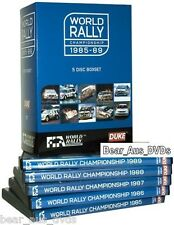 WRC 1985-1989 FIA WORLD RALLY CHAMPIONSHIP 1980s 80's - x5 NEW DVD BoxSet  UK