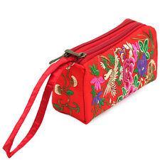 HANDBAG WRISTLET CLUTCH  MAKEUP BAG COSMETIC PURSE NEW ETHNIC EMBROIDERED TRIBA