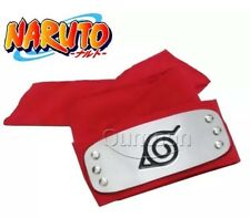 New Naruto Kakashi Sasuke Red Leaf Village Konoha Ninja Headband Cosplay Anime