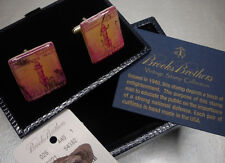 New Brooks Brothers Postage Stamp Cuffllinks Cuff Links NIB $125