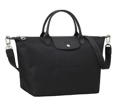 Longchamp Le Pliage NEO Tote bag 1515 Medium  Black Travelbag Authentic NEW