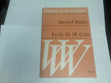 G. D. H. COLE - SAMUEL BUTLER-1971- WRITERS & THEIR WORK