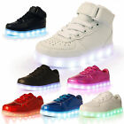GIRLS TRAINERS KIDS CHILDRENS LED LIGHT UP LACE LUMINOUS PUMPS SHOES SCHOOL SIZE