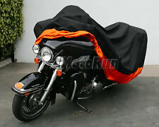 XXXL Motorcycle Outdoor Rain Cover for Harley  Ultra Tour Glide Classic FLTCU