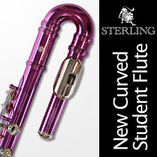 Curved Head Pink STERLING Student C FLUTE • Straight AND Curved Headjoints •