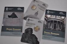 SAN MARINO 2 euro 2014 DONATO BRAMANTE - Set 500 aniv. della scomparsa 11 ediz.