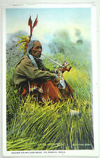 20s Native American Indian Chief Good Boy Smoking Pipe Curt Teich Postcard Photo