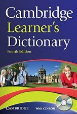 Cambridge Learner's Dictionary with CD-ROM (2012, CD-ROM / Paperback, Revised)