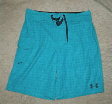 NWT Under Armour Storm Loose Hydro  Bright Blue Surf Board Shorts Mens sz 32