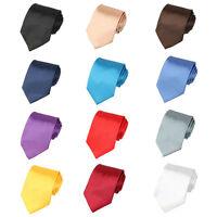 Men Solid Color Smooth Satin Party Wedding Tie Formal 8cm Wide Necktie TSBWT0062