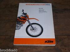 MANUEL D UTILISATION ET D ENTRETIEN KTM 625 SXC 2004 Owner's Handbook 625SXC