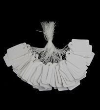 400 Plain White Price Tag with Cotton String 30x25mm