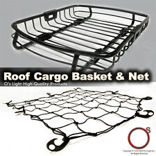 Ford 96-14 Roof Top Rack Car Cargo Carrier Traveling Basket and Net Combo