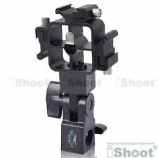 Tri-Hot Shoe Mount Flash Bracket/Umbrella Holder for Nikon Canon Pentax Sigma