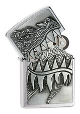 Zippo Firebreathing Dragon 60001621 Chrome brushed-Emblem Attached Choice 2016
